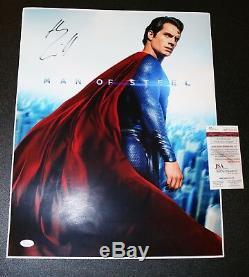 Henry Cavill autographed 16x20 Superman, Man of Steel poster JSA PSA WITNESS