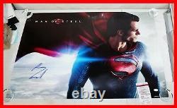 Henry Cavill autographed 24x36 Superman, Man of Steel poster JSA PSA WITNESS