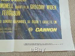 Highlander Original Huge Italian 39 X 55 Cinema Poster 1986 Connery Lambert