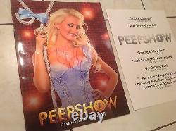Holly Madison Playboy Signed Autograph Lot Rabbithole Book+peepshow+poster+proof