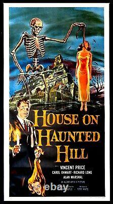 House On Haunted Hill Vincent Price Horror 1958 3-sheet Linenbacked