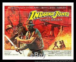 INDIANA JONES RARE 10x13 ft Giant Billboard Original Vintage Movie Poster 1984