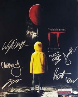 IT 7X CAST signed 16x20 Poster Finn Wolfhard Wyatt Oleff JSA COA 433 479