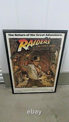 Indiana Jones Raiders Of The Lost Ark 1982 Original Movie Poster 1st Issue 27x41