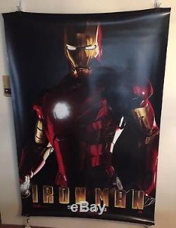 Iron Man Bus Shelter Poster 48 x 70 Robert Downey Jr. Gwyneth Paltrow