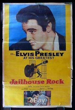 JAILHOUSE ROCK CineMasterpieces 40x60 ORIGINAL MOVIE POSTER 1957 ELVIS PRESLEY