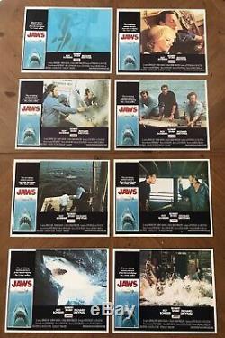 JAWS 1975 Original Lobby Cards 11x14 NM Spielberg