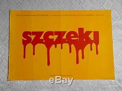 JAWS 1SH /Style B/ Original Polish Poster Steven Spielberg