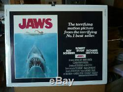 JAWS, nr mint 1975 orig rolled 22x28 / movie poster Steven Spielberg