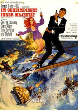 James Bond 007 Im Geheimdienst Ihrer Majestät ORIGINAL A1 Kinoplakat G Lazenby