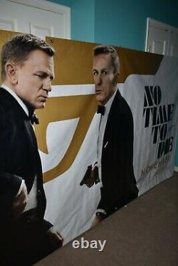 James Bond 007 No Time to Die Movie Banner 15 feet x 5' 10 Great Condition