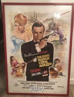 James Bond From Russia With Love Original 1974 Spanish one sheet film poster