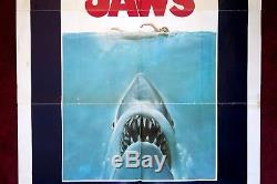 Jaws Original Movie Poster 1sh 1975 Spielberg Shark Horror Vintage