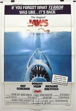 Jaws Roy Scheider / Robert Shaw- Original American One Sheet Movie Poster