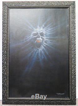 Jim Warren Original Oil Painting Art The Haunting of Morella Movie Poster Art