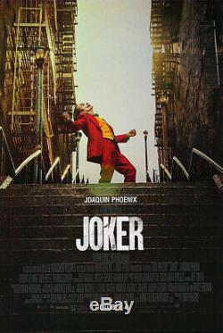Joker Original Movie Poster Double Sided Final Style Joaquin Phoenix De Niro