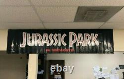 Jurassic Park VHS advertising display banner. Never opened. Example photo