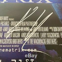 KEANU REEVES SIGNED THE MATRIX 27x40 MOVIE POSTER AUTHENTIC BAS COA #T14383