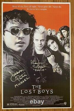 Kiefer Sutherland Jason Patric Signed The Lost Boys 11x17 Movie Poster Cert HOLO