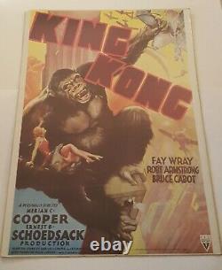 King Kong Vintage Rko 1933 Movie Poster 1976 Original Portal Pub. 20 X 28