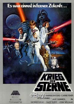 Krieg der Sterne Star Wars ORIGINAL A0 Kinoplakat Harrison Ford / ZUSTAND