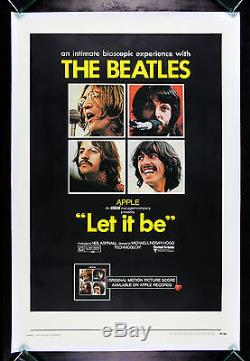 LET IT BE CineMasterpieces THE BEATLES VINTAGE ORIGINAL ROCK MOVIE POSTER 1970