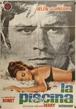 La PISCINE SWIMMING POOL Spanish movie poster ALAIN DELON ROMY SCHNEIDER DERAY