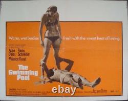 La PISCINE SWIMMING POOL half sheet movie poster ALAIN DELON ROMY SCHNEIDER