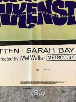 Lady Frankenstein 1972 Original 1 Sheet Movie Poster 27 x 41 (VF-) Horror
