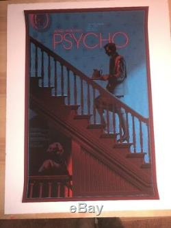 Laurent Durieux Alfred Hitchcocks Psycho Mondo Movie Signed Poster Art Print