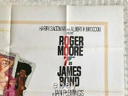Live and Let Die Original Quad Poster 1973 007 James Bond Roger Moore McGinnis