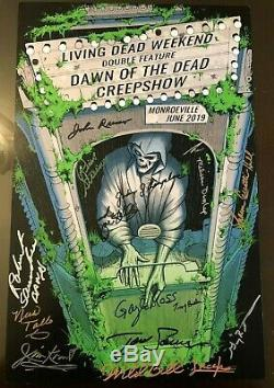 Living Dead Weekend Signed Poster 11x17 Romero, Zombie, Creepshow