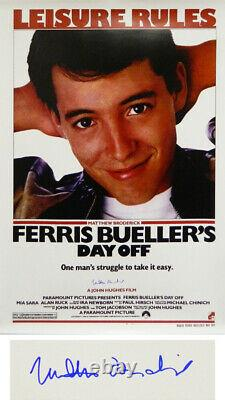 MATTHEW BRODERICK Signed'Ferris Bueller's Day Off' 27x40 F/S Movie Poster SS