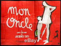 MON ONCLE/MY UNCLE huge French billboard poster Jacques Tati RI Filmartgallery