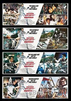 MOONRAKER CineMasterpieces ORIGINAL MOVIE POSTER BANNER SET OF 4 JAMES BOND