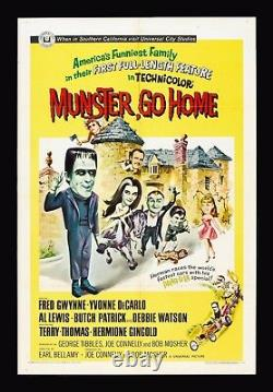 MUNSTER, GO HOME CineMasterpieces THE MUNSTERS MOVIE POSTER 1966 HORROR COMEDY