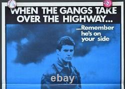 Mad Max Original 1979/81 BLUE reissue Australian daybill movie poster Gibson