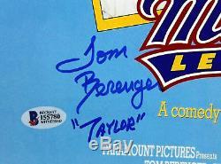 Major League (3) Sheen, Berenger & Bernsen Signed 12x18 Movie Poster BAS Witness