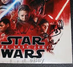 Mark Hamill Signed Star Wars Last Jedi Autographed 11x14 Photo PSA JSA BAS COA