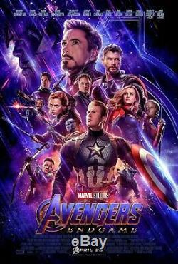 Marvel AVENGERS ENDGAME 2019 Original DS 2 Sided 27X40 US Movie Poster NEW MINT