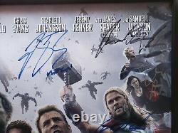 Marvel Avengers Age of Ultron Cast Signed (18) Movie Poster 40x27 WandaVision
