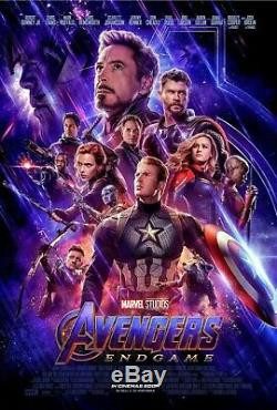 Marvel Studios Avengers Endgame 2019 Original Double Sided Movie Poster 27x40