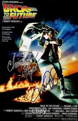 Michael J. Fox & Christopher Lloyd Signed Back To The Future 11x17 Movie Poster