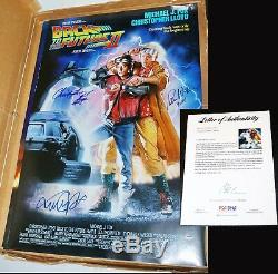 Michael J Fox Lloyd & Wilson Signed 27x40 Back To The Future 2 II Poster Psa Jsa