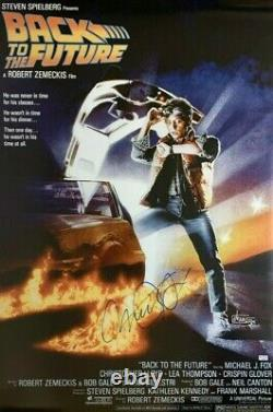 Michael J Fox Signed Back To The Future 24x36 Poster COA Private Signing HUGE