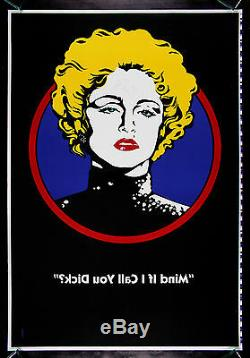 Mind If I Call You DICK TRACY MADONNA RECALLED MOVIE POSTER 1990 PRINTER'S PROOF