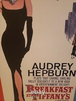 Movie Poster Breakfast at Tiffany's Audrey Hepburn Framed 42 x 29.5