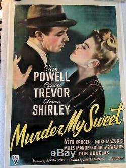 Murder My Sweet One Sheet Original 1944 Movie Poster