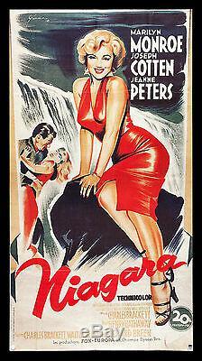 NIAGARA CineMasterpieces FRENCH ORIGINAL MOVIE POSTER 1970'S MARILYN MONROE