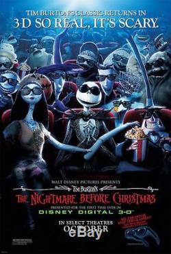 NIGHTMARE BEFORE CHRISTMAS 3D RR2008 RARE Original LENTICULAR 27x40 Movie Poster